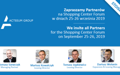 Zapraszamy na stoisko Acteeum na targach Shopping Center Forum