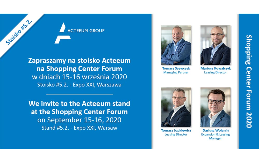 Acteeum invites to the Shopping Center Forum 2020!